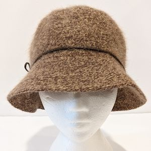 Angora wool blend women's bucket hat